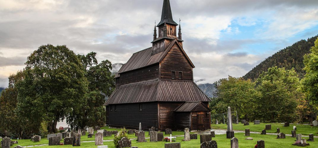 Stave church in Kaupanger