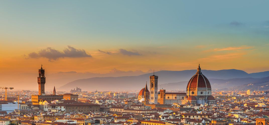 Florence and the Duomo at dusk