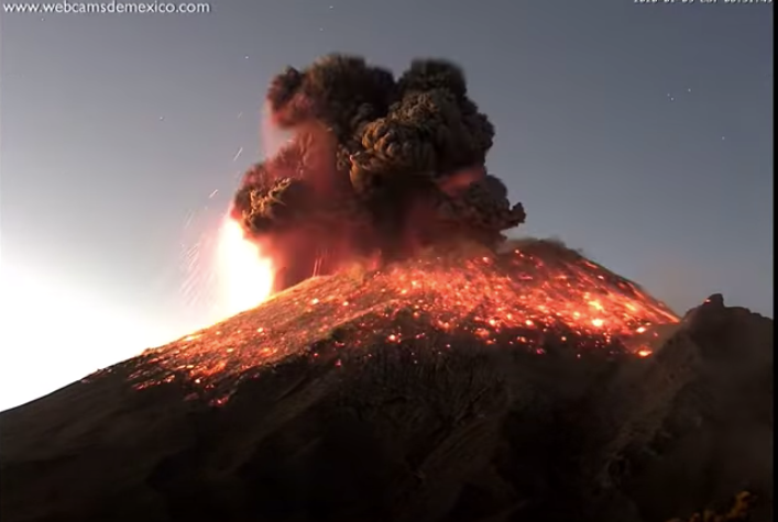 Watch the Spectacular Eruption of One of Mexico's Most Active Volcanoes