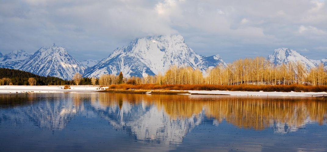 The stark beauty of the Tetons in winter