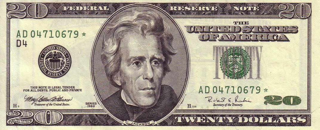 Andrew jackson wasn 39 t always on the 20 bill smart news for Twenty pictures