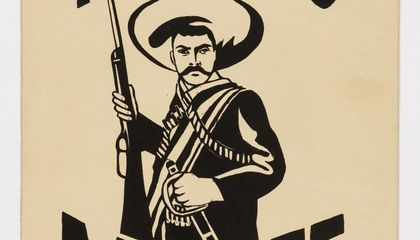 Emanuel Martinez, Tierra o Muerte, 1967, screenprint on manila folder, Smithsonian American Art Museum, Gift of the artist, 1996.8, © 1967, Emanuel Martinez