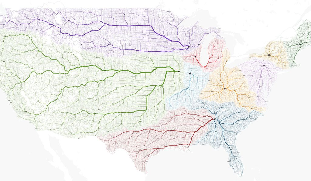 The roads that lead to each of the 10 Romes in the U.S.