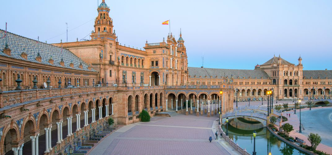 The Plaza de Espana, Seville