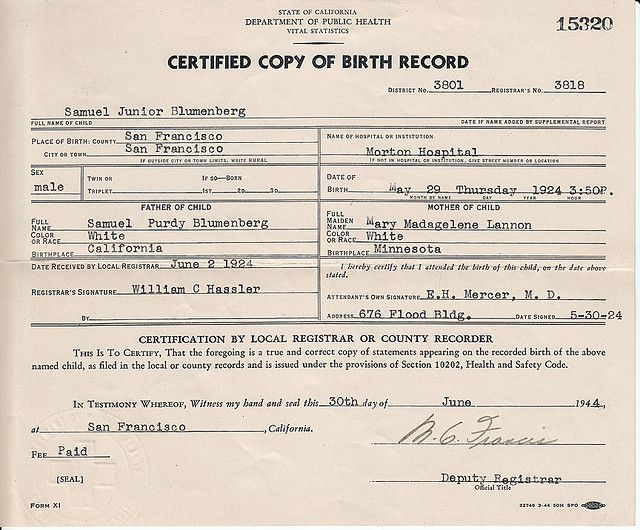Messiah's birth certificate (not pictured) will have to be updated if the judge gets her way.
