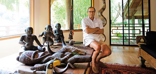 Paul Theroux at his home in Hawaii