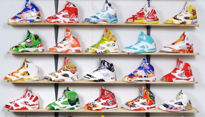 Artist Fashions Nike Air Jordan 5s From Trash