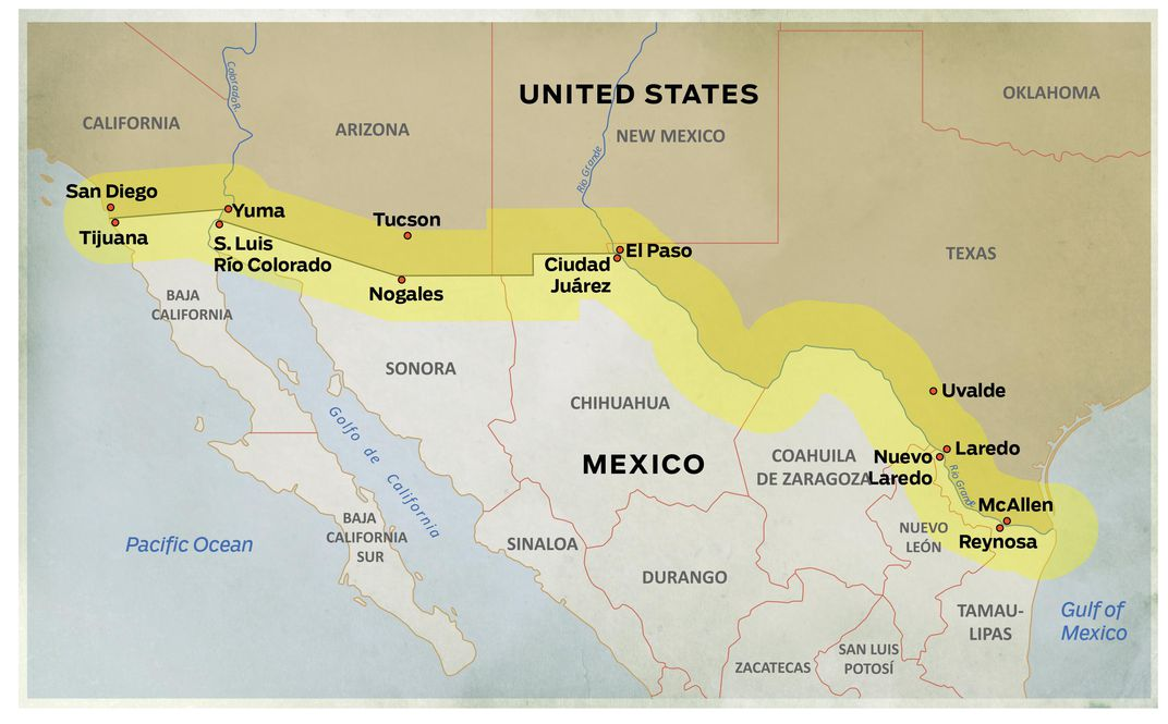 Fly Along On A Border Patrol Flight Today Air Space Magazine - Us southern border map