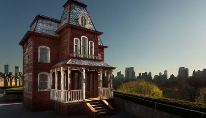 Replica of 'Psycho' House Opened on Museum Rooftop