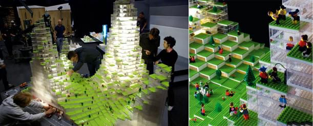 A Lego-built model for BIG's Lego Towers
