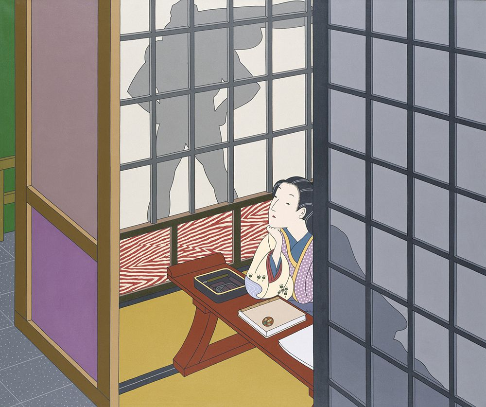 "Image of ""Diary: December 12, 1941"" painting by Roger Shimomura, from the Smithsonian American Art Museum"