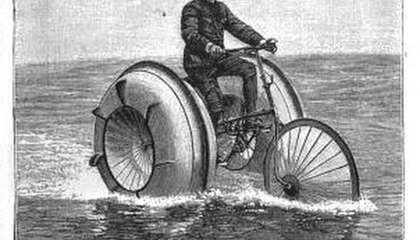 People in the 1800s Dreamed of Bicycling on Water