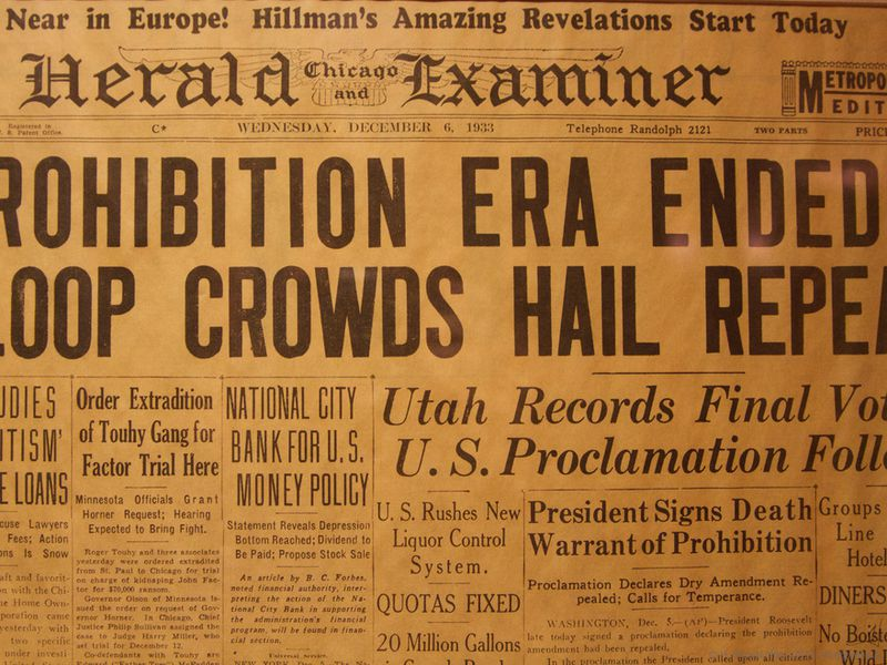 Prohibition headline