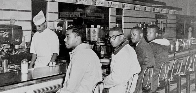 Courage At The Greensboro Lunch Counter At The