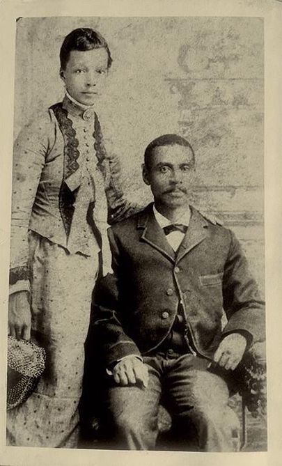 J.B. Stradford, pictured with his second wife, Augusta