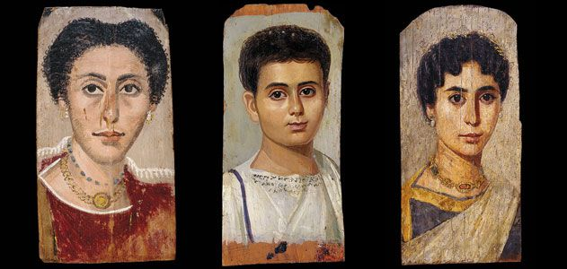 Ancient art portraits