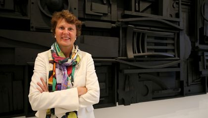 SAAM's Director, Stephanie Stebich, in front of Louise Nevelson's