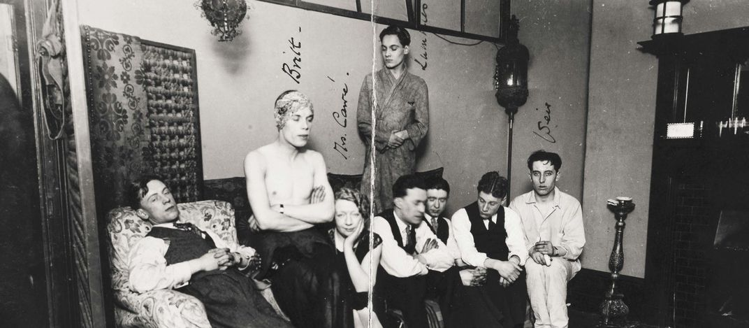 Gay men are arrested by police at a club in London in 1927. Public and even  private expressions of homosexuality were outlawed in England until 1967.