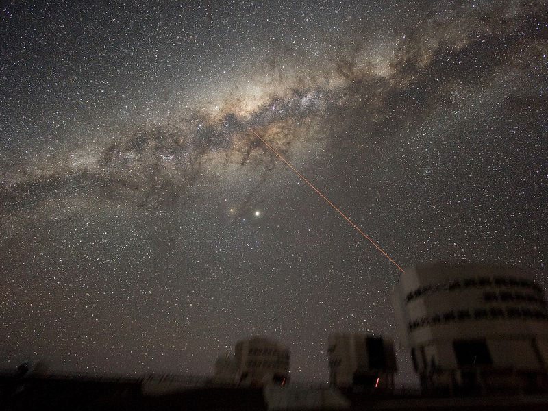 Image of the night sky above Paranal on 21 July 2007, taken by ESO astronomer Yuri Beletsky.
