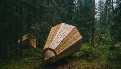 Listen to Nature Through These Gigantic Wooden Megaphones in Estonia's Forests