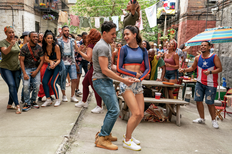 Usnavi and Vanessa dancing in the streets of Washington Heights