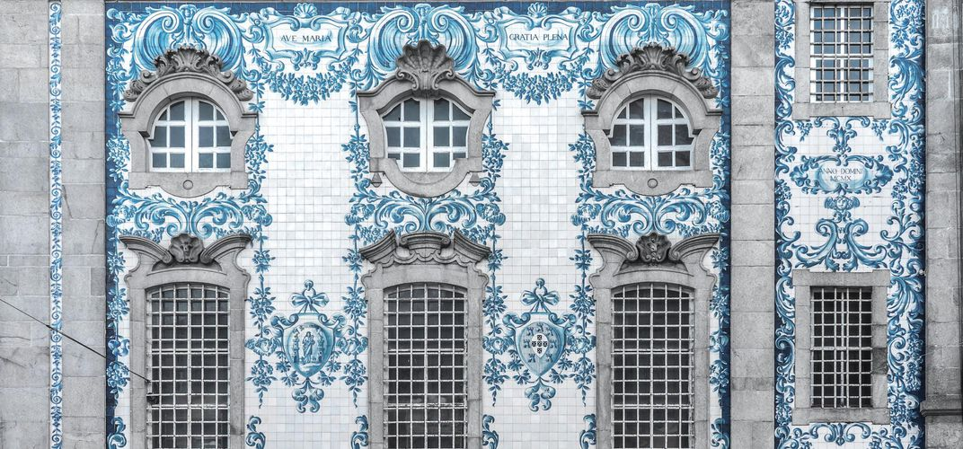 Tile work at San Carmelito, Porto