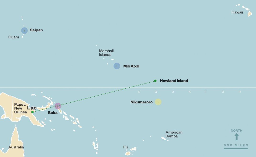 Howland Island On World Map.Will The Search For Amelia Earhart Ever End History Smithsonian