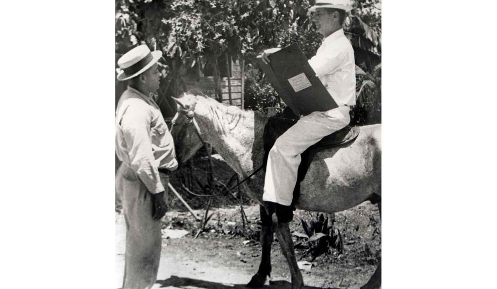A visit in 1930 with an enumerator on horseback.
