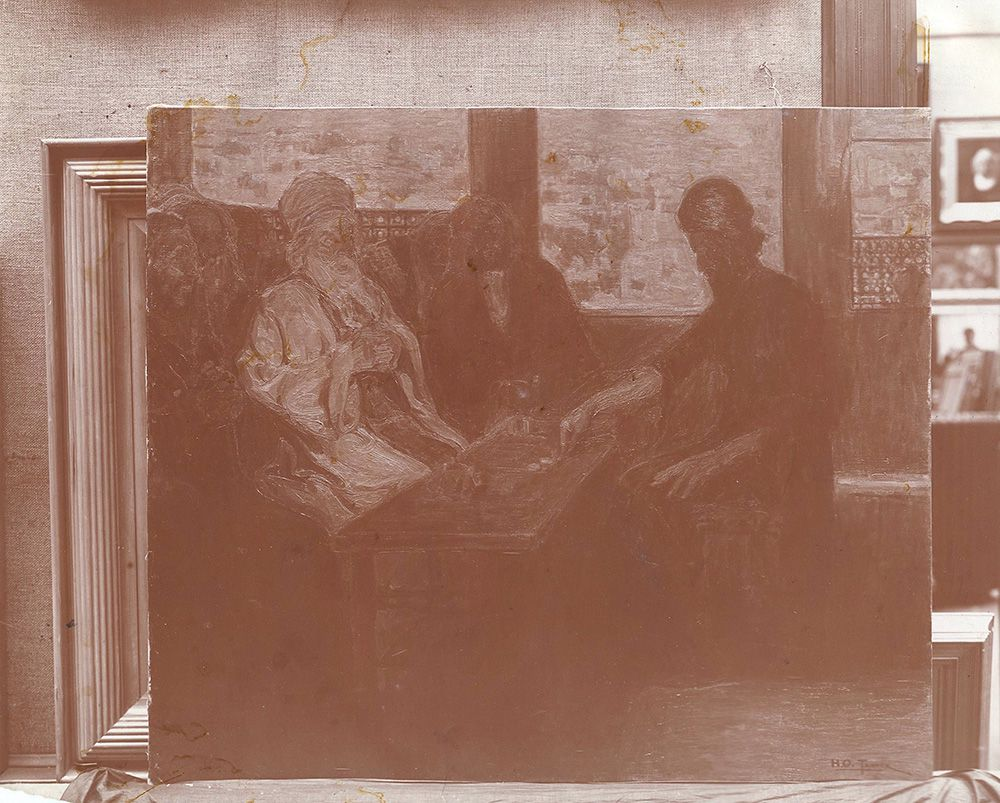 Judas Covenating with the High Priests by Henry Ossaawa Tanner, Image courtesy of the Carnegie Museum of Art Archives, Pittsburgh