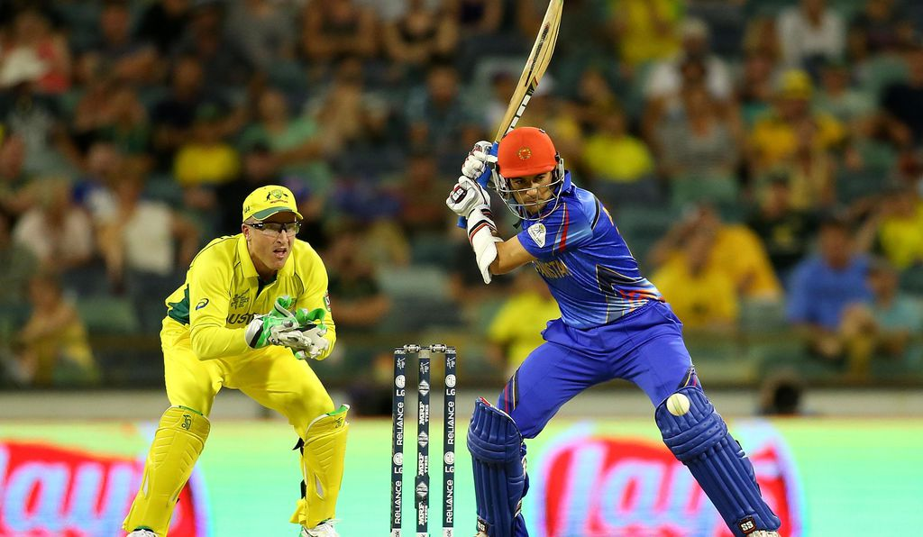 Athletes representing Australia and Afghanistan play in the most recent ICC Cricket World Cup, which took place in 2015.