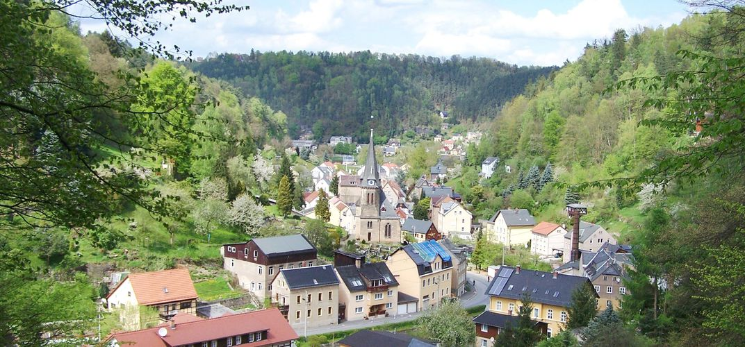 The spa town of Bad Schandau, Germany