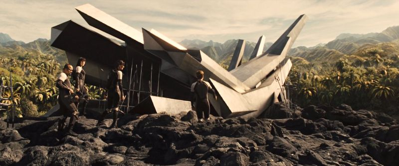 The Cornucopia used during the 75th Hunger Games. Still from Catching Fire.