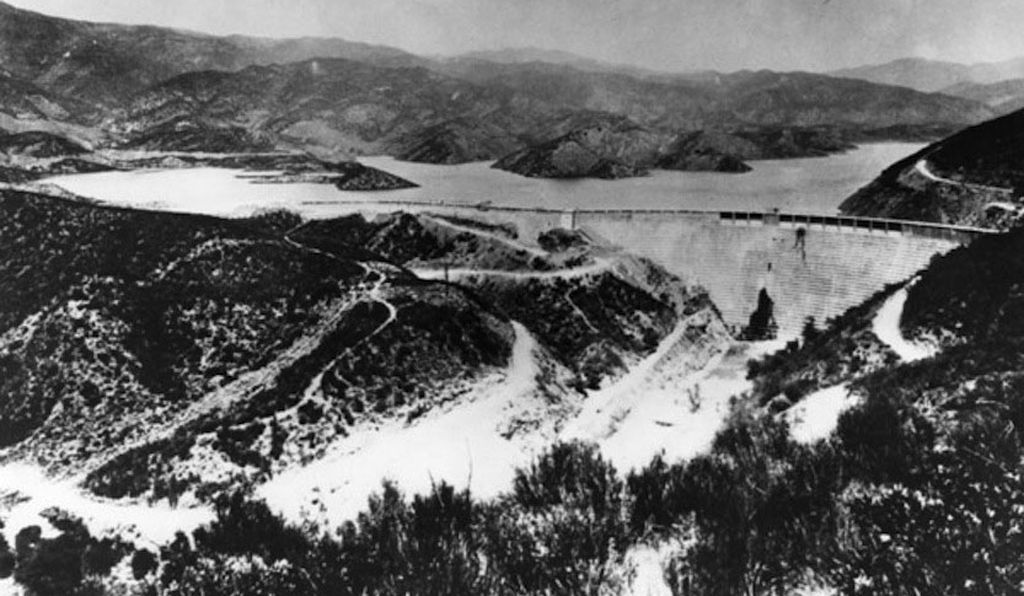 The St. Francis Dam, circa 1926/1927