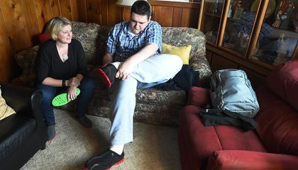 Image: Michigan teen gets size-28 shoes, thanks to 3-D printer