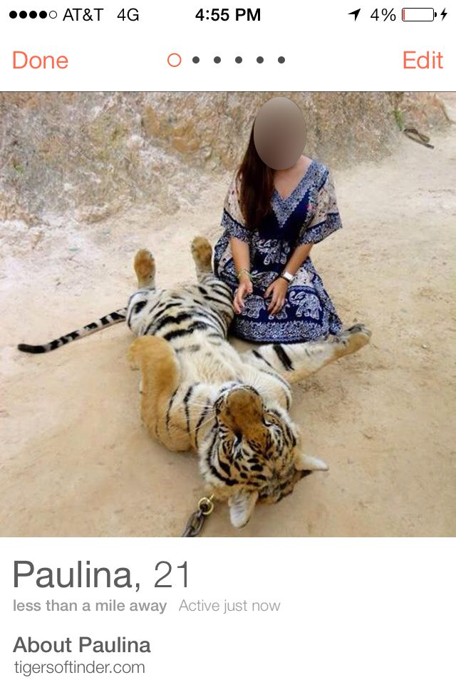 The Big Unsexy Problem With Tinder's Tiger Selfies | Science