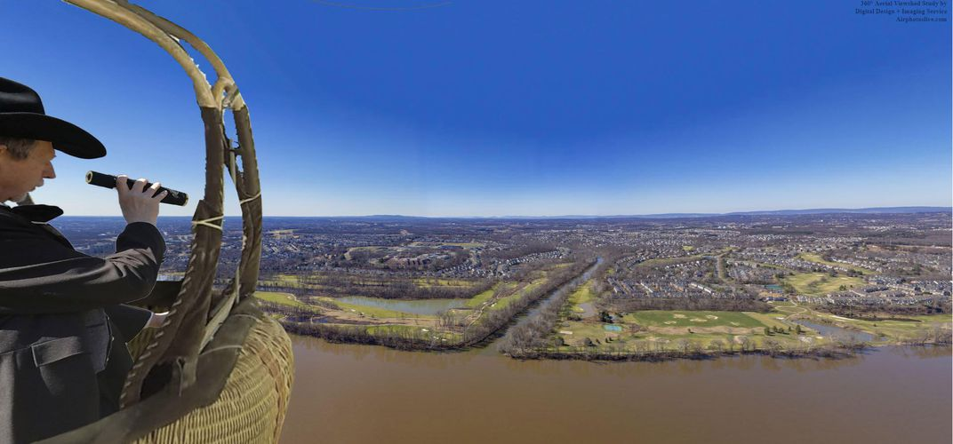 Caption: How Far Could Civil War Balloonists See?
