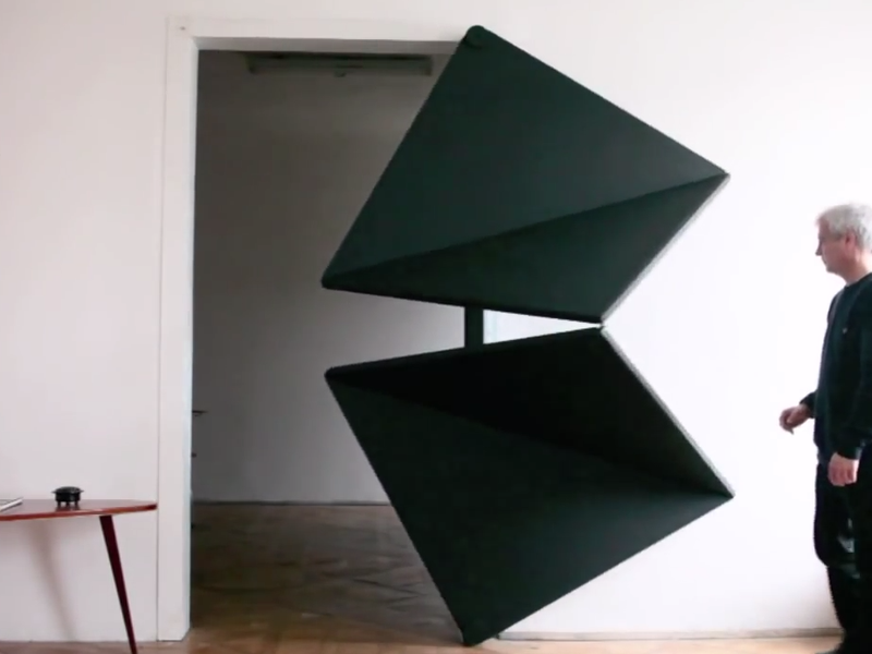 Triangle Folding Doors : This incredible folding design could change how doors