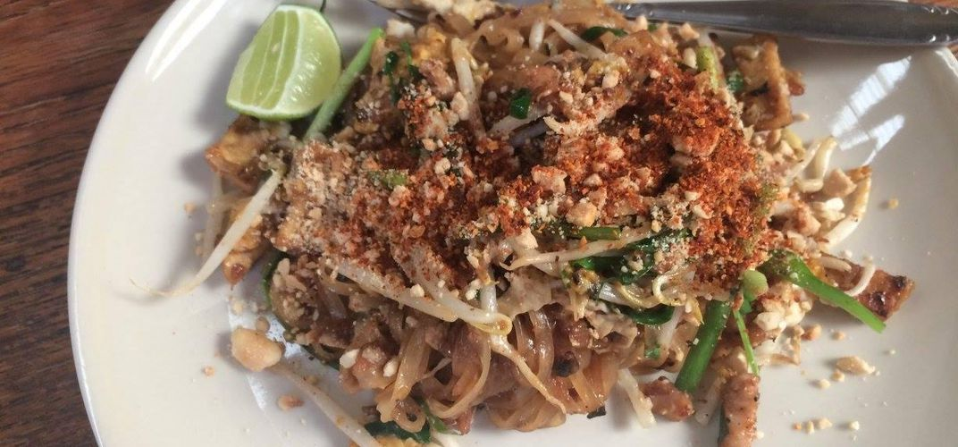 Home-made Pad Thai at a cooking class in Chiang Mai