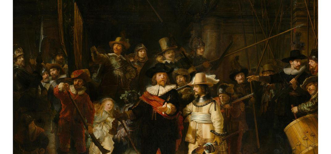 Caption: Explore Details of Rembrandt's 'The Night Watch'