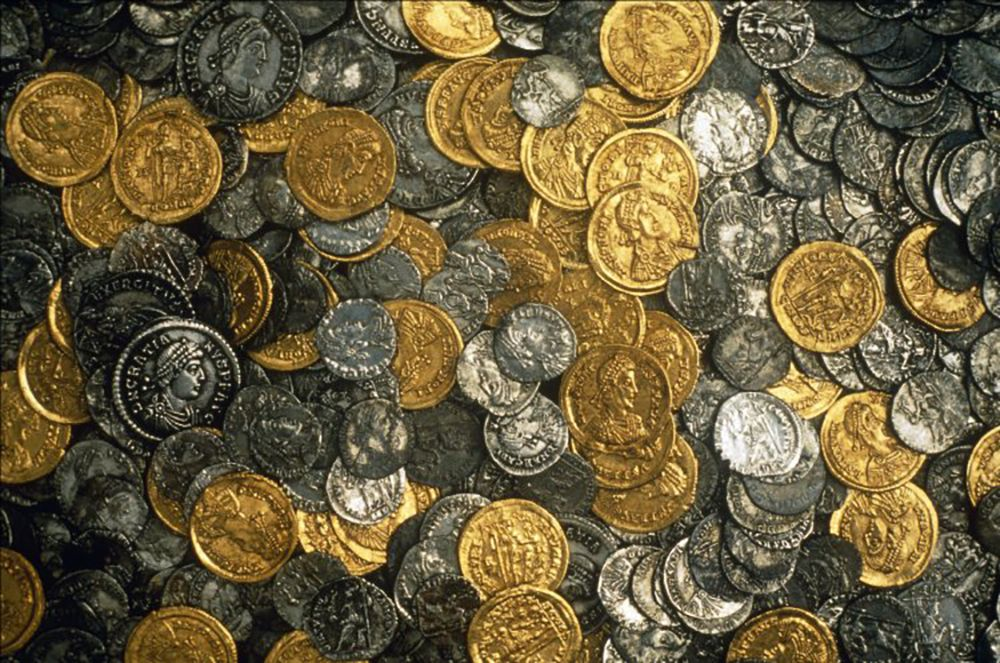 Image result for ancient greek money hoard