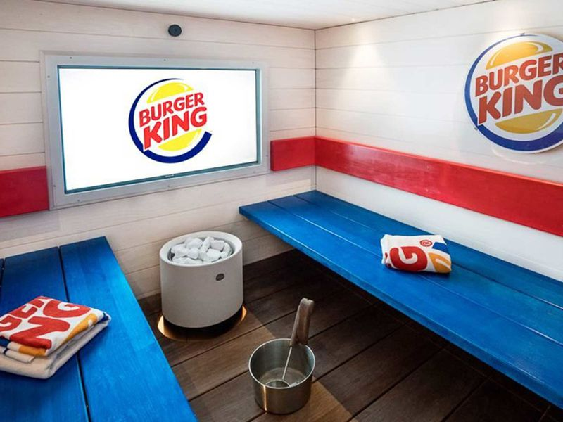 Burger King sauna