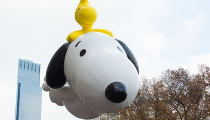 Image: The puppeteer who brought balloons to the Thanksgiving Day Parade