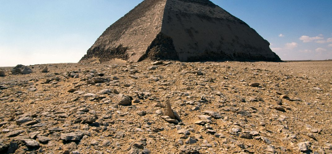 Caption: Egypt Opens Its 'Bent Pyramid'