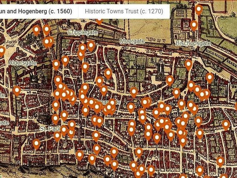 Map Of London And Surrounding Suburbs.Relive Medieval London S Bloody Murders With This New Interactive