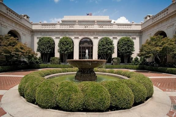 The courtyard at the Freer Gallery of Art is as beautiful as the museum's collection inside.