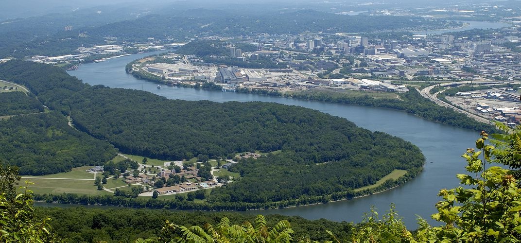 View of the Mississippi and Vicksburg from Lookout Mountain