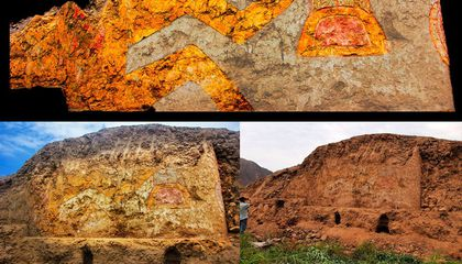 3,200-Year-Old Mural of Knife-Wielding Spider God Found in Peru
