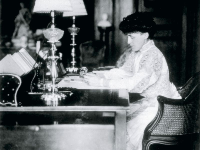 Wharton at Desk