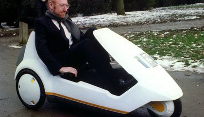 This Three-Wheeled, Battery-Powered Plastic Car-Bike Was a Giant Flop in 1985