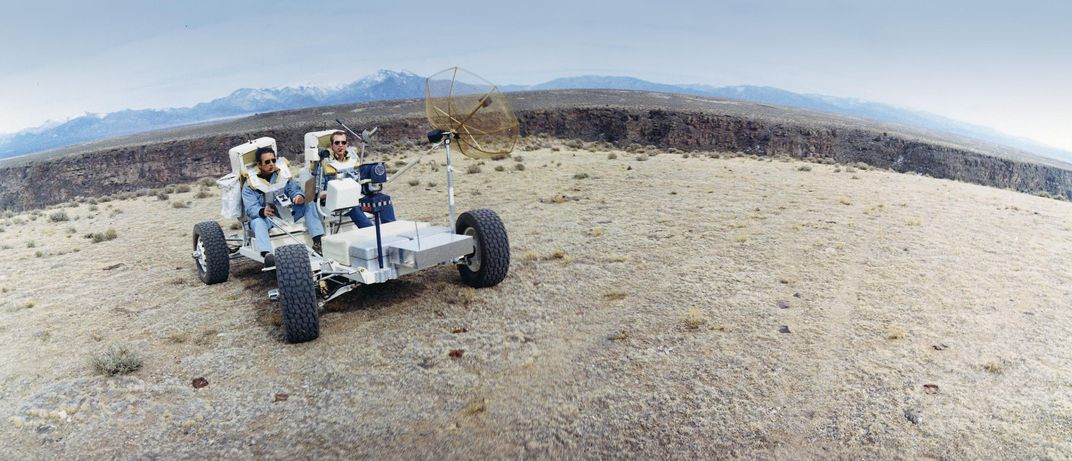 driving the lunar rover in sand on Earth